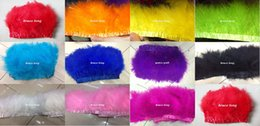 Wholesale Boa Scarves - Free Shipping Custom Colors Turkey Feathers Trim Boa Marabou Feathers Feather Belt Strip Scarf Stage Performance Decor 2M 10-15CM