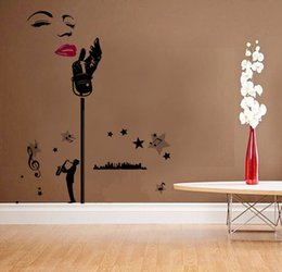 diy art music wall decal decor room stickers vinyl home mural removable paper size 160 - Music Wall Decor