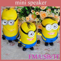 Wholesale Minions Speakers - minion mini speaker cartoon speaker minion style super bass music car laptop portable mini speaker MIS052