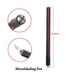 Kits de tatuaje online-Al por mayor-microblading tebori ceja tatoo pen con 12 Pin Microblade ceja kit para tebori semi permanente maquillaje de la ceja