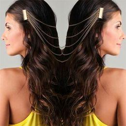 2019 аксессуары для волос Богемия драпировки волос расчески кисточкой цепи оголовье головы обернуть головной убор свадебные волосы свадебные диадемы аксессуары для волос дешево аксессуары для волос