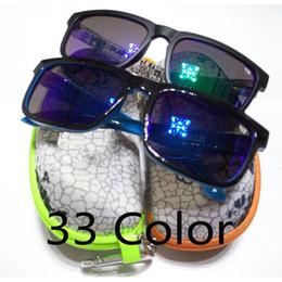 Wholesale Eyewear Zipper Case - Wholesale-33 color helm ken block Sunglasses Sun glasses Men de sol Eyewear Sports oculos 43 with Original zipper bag case box gafas