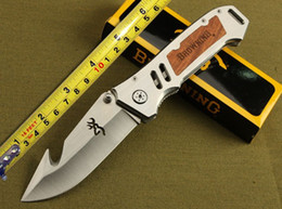 Wholesale Counter Strike - New Browning CUT counter strike Rescue Bowie Knife Camping Hunting Rescue Knife Tactical hunting camping knife knives Christmas Gift GFF186