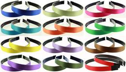 Wholesale Headbands Multi Color Plastic - 30pcs 15mm Satin Ribbon Lined plastic Black Headband with Teeth Headwear Headdress