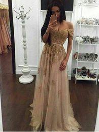 2019 robes de soirée en soirée Paillettes d'or robe de bal longue A-ligne sweetheart sans manches étage longueur robes de soirée robe de soirée PD1128