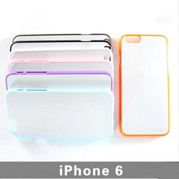 Wholesale Sublimation Sheet Metal - For iPhone 6 4.7 inch DIY Sublimation Blank Hard Plastic PC Case with Metal Aluminium Sheet High Quality 8 Colors Free Shipping (F0003)