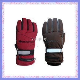 Wholesale Rechargeable Heated Gloves - Wholesale-Warmspace Rechargeable Electric Heating Gloves With Double Rechargeable Battery Keep Warm 4hours Outside Winter Warm