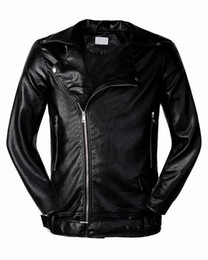 Wholesale Motor Leather - 2017 Classic Style Motorcycling PU Leather Jackets Men Slim Male Motor Jacket Men's Clothes Men's Jackets