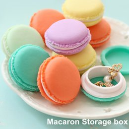 Wholesale Sell Candy - Macaron storage box organizer for jewelry Mini Candy Color 4 Colors Free Shipping hot selling