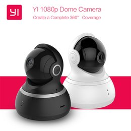 """Wholesale Dome Webcam - Yi Dome Camera 1080P 112"""" Wide Angle 360"""" View Pan-Tilt Control Night Vision 2 Way Audio IP Webcam International Version XiaoYi"""