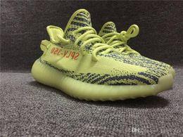 Wholesale Sport Winter Boots For Men - Originals Boost 350 V2 Kanye West Running Sneakers Zebras Zebra Fluorescent Green Frozen Yellow Blue Tint Sports Shoes for men