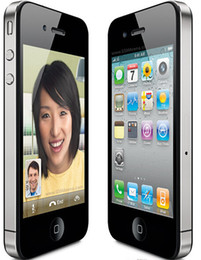 Wholesale Iphone Wifi - Original Apple Iphone 4 Cell Phone 3.5 Screen 8GB 16GB 32GB IOS7 GPS WIFI 3G Refurbished Phone
