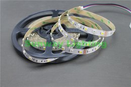 Wholesale Led Tube Flex - 5M 5050 SMD RGB White LED Strip RGBW RGBWW Flex LED Light strips 5M 300LEDS Waterproof Tube Silica 12V DC Christmas Holiday lights