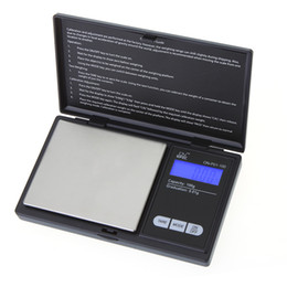 Wholesale Mini Digital Scale Grams - New Arrive 100g * 0.01g Mini LCD Electronic Digital Pocket Scale Jewelry Gold Diamond Weighting Scale Gram Weight Scales
