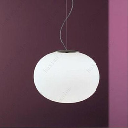 Wholesale Glass Hanging Chandelier - Flos glo ball pendant lamp Modern chandelier Glass dining room hanging light Creative lighting fixture by Jasper Morr Free shipping