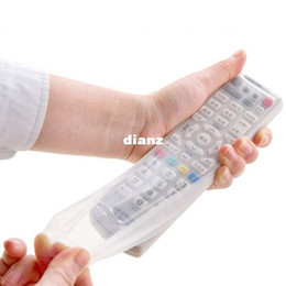 Wholesale Tv Remote Plastic - Storage Bags TV Remote Control Dust Cover Protective Holder Organizer Home Item Gear Stuff Accessories Supplies
