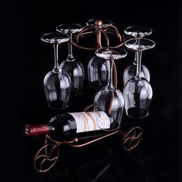 Wholesale Exotic Home Decor - Umbrella Wine rack Hot Iron Wine cup rack iron wine holder creative home decor exotic rack