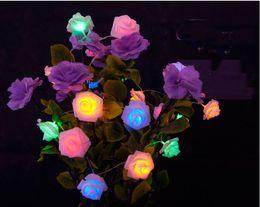 2019 blau geführtes helles licht 2,2 mt 20 leds Rose Blume String für Weihnachten Hochzeit Batteriebetriebene Lichter Dekoration Lampen Warmweiß Blau Lila Weiß Rosa Farbe günstig blau geführtes helles licht