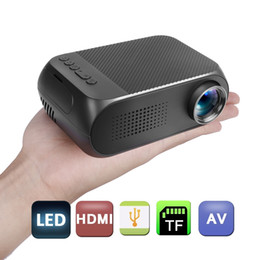 Wholesale Mini Hdmi Projector Free Shipping - free shipping portable Mini Projector LED Projector support PC Laptop USB SD AV HDMI Input for Video Movie Game Home Theater Video