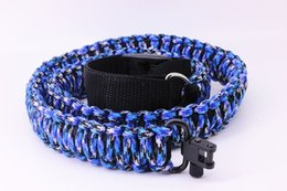 Wholesale Gun Slings - Adjustable Paracord Rifle Gun Sling Strap With Swivels   Hunting accessories  sky blue camouflage