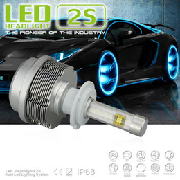 Wholesale Xenon H7 One - 1 Set H7 60W Pair 6400lm CREE ETI LED Headlight Single Beam 2S All in One Xenon White 6000K 30W Bulb 3200lm H1 H3 H8 H9 H11 9005 6 D2 D4 NEW