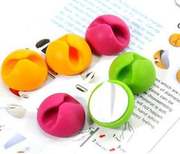 Wholesale Cable Wire Cords Organizer - 2016 new New 6pcs Drop Clips Ties Organizer Holder Line Fixer Smart Adhesive Wire Cord Cable For Sale