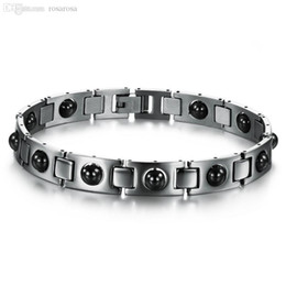 Wholesale Power Bracelet Price - Wholesale-Stainless Steel Bracelets With Magnet Stone Healthy Therapy Power Magnetic Bracelet&Bangle Fashion Jewellery Wholesale Price