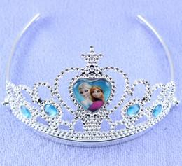 Wholesale Diamond Hairpin Hair Clip - Cheapest Frozen Crown Hairpin With Diamond Anna Elsa Princess Headband Hair Clip Children Accessories