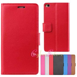 Wholesale Cases For Huawei Ascend - For Huawei P8 Litchi Skin Wallet Leather TPU Phone Case Cover With Credit Card Slot Money Pocket Flip Stand for Huawei Ascend P8