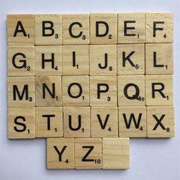 Wholesale Quality Tiles - Wooden Alphabet Scrabble Tiles Kids Intelligence Development Multi Function Baby Literacy Puzzle Block High Quality 7xp C R