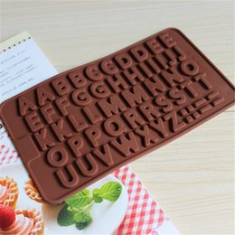Wholesale Unique Mold - Unique Decorative 26 Alphabet Cake Mould Silicone Easy Clean ECO Friendly Candy Pastry Mould Chocolate Mold For Children