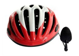 Wholesale Helmets Parts - Wholesale hot bike bicycle cycling helmet rearview mirror road reflector safety mirror Acrylic Aluminum bike parts
