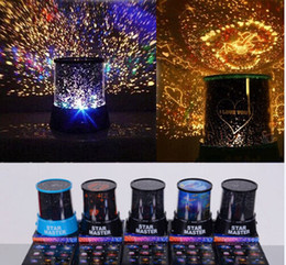 Wholesale Light Stars Lamp - Colorful 8 Style to Choose LED Cosmos Star Master Sky Starry Night Projector Light Lamp Kid's Good Gift