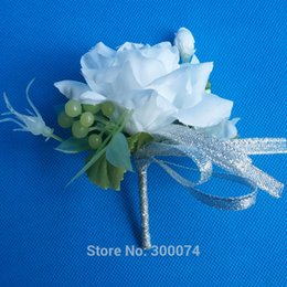 Wholesale Prom Corsage Wholesale - Wholesale-Silk Wedding Corsage&boutonniere for Groom or Groomsmen , Artificial Rose Bud , Decorative Flowers Corsage For Men Prom