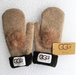 Wholesale Gloves Drive - New High Quality Woman Wool Glovess European Fashion Designer Warm Glove Drive Out Of Sports Mitten Brand Gloves Multi-style Optional