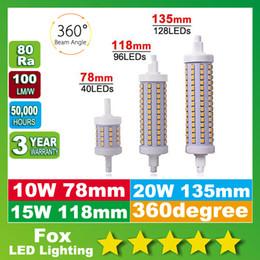 Wholesale Led R7s 15w - R7S led bulbs 78mm J78 118mm 135mm 10W 15W 20W SMD2835 LED Lamp Bulb R7S Light 360 Degree lighting lamps Halogen Lamp Floodlight