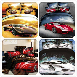 Wholesale Queen Fitted - cartoon bed sets very lovely,bed set 3d car pattern bedding set 4pcs king queen size,duvet  duvet cover bed sheet comforter