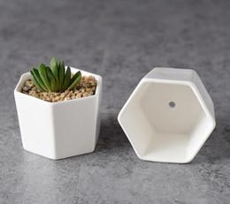 Wholesale Ceramic Chinese Flowers - 100pcs ceramic bonsai pots wholesale mini white porcelain flowerpots suppliers for seeding succulent indoor home Nursery planters