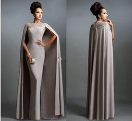 Wholesale Elie Saab Bride Dresses - Luxury Muslim Gray Mother Of The Bride Dresses 2016 Sexy Jewel Neck Lace Pleats Modern Elie Saab Party Celebrity Gowns BO9287