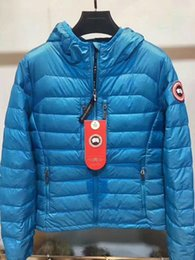 Wholesale Mens Canada - High Quality CANADA New Winter women's Down puffer jacket Casual Brand Hoodies Down Parkas Warm Ski Mens Coats Black Red 706