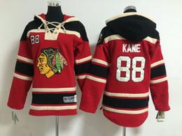 Wholesale Embroidered Hoodie Kids - Blackhawks#88 Kane Red Kids Ice Hockey Hoodies #19 Toews High Quality Embroidered Youth Hockey Uniform Pullover Hooded Sweatshirts HOT SALE