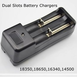 Wholesale Charge Mod Battery - 18350 18650 li-ion battery EU US charge double dual slots charger universal rechargeable lithium ion batteries charger for mod e cig by DHL
