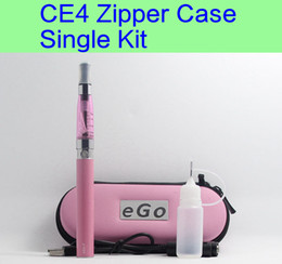 Wholesale Ego E Cigarette Case - CE4 eGo Starter Kit Electronic Cigarette Zipper Case Single Kit E-Cigarette 650mah 900mah 1100mah DHL free shipping
