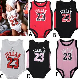 Wholesale Baby Animal Bodysuits - Baby Bodysuits Children Sports Jersey Sweater Jumpsuits