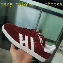 Wholesale Womens Purple Lace Top - New Top Quality 2017 Gazelle OG Womens Mens Suede Leather 2018 Retro White Pink Black Nmd Grey Red Racer Green Classic 11 Shoes
