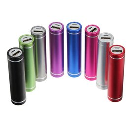 Wholesale Mobile Backup Charger - Metal Cylinder Style Power Bank Portable External Backup Charger Emergency Power Pack case for all Mobile Phones Hot Selling