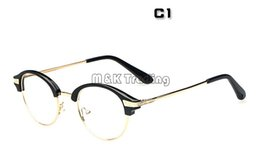 Wholesale Rims Shops - Glasses Shop 2015 New Small Eyeglasses Frame Vintage Round Half Frame Stylish Eyewear Professional Optical Frame Lenses Changed