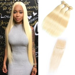 Wholesale brazilian virgin human hair weave - Doheroine Brazilian Straight & Body Wave Human Hair Weave 3 Bundles 613 Blonde Human Hair Bundles With Closure Honey Platinum virgin Hair