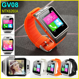 "Wholesale Iphone Sd Slot - GV08 Bluetooth Smart Watch Phone with 1.3Mp camera, 1.54""screen Smart wristwatch Micro SIM SD Slot For Android Phone iPhone Samsung"