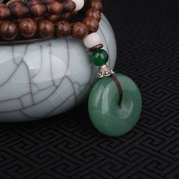 aventurine pendants Coupons - jewelry necklace Evade Peace Aventurine Quartz necklace green,Nepal jewelry handmade sandalwoods long vintage pendants necklace
